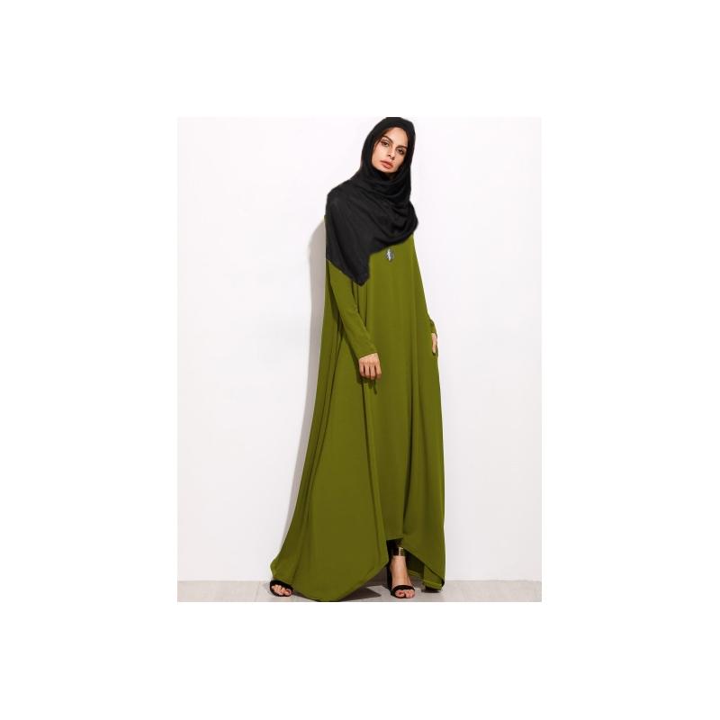 Boutique Trapèze Forme En Robe Musulmane Maxi Ynes WOnH4Yw