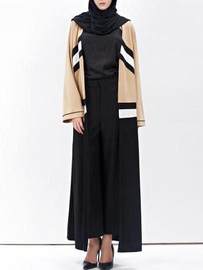 Abaya Moderne Asymetrique Face