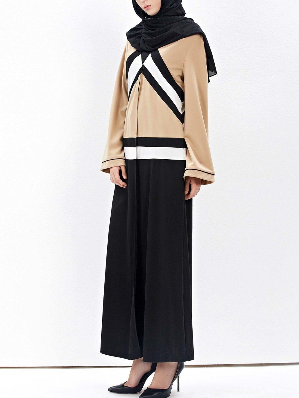 Abaya Moderne Asymetrique Profil