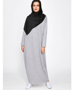 vetements islamiques modernes Robe Perlee