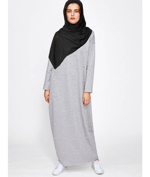vetements islamiques modernes Robe Perlee