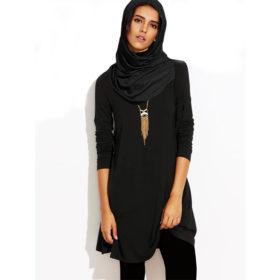Tunique-femme-musulmane-noir-casual