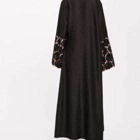 abaya Brodée noir dos