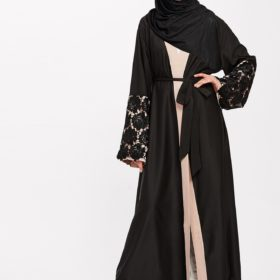 Abaya Brodee noir Face