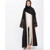 Abaya noire brodée