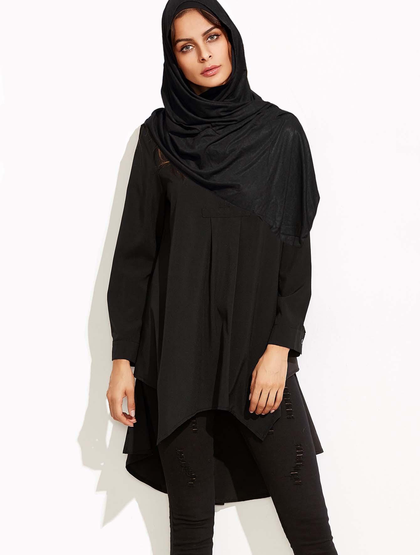 Chemisier noir maxi long idéal pour femme musulmane   Ynes Boutique e989d3f0bb31