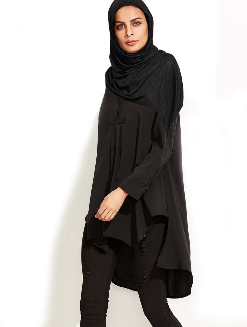 Vetement Femme Voilée Chemise noir