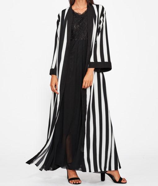 Abaya pas cher moderne face ouverte