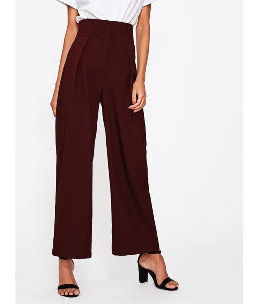 Pantalon femme bordeaux