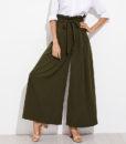 Pantalon femme musulmane extra large vert