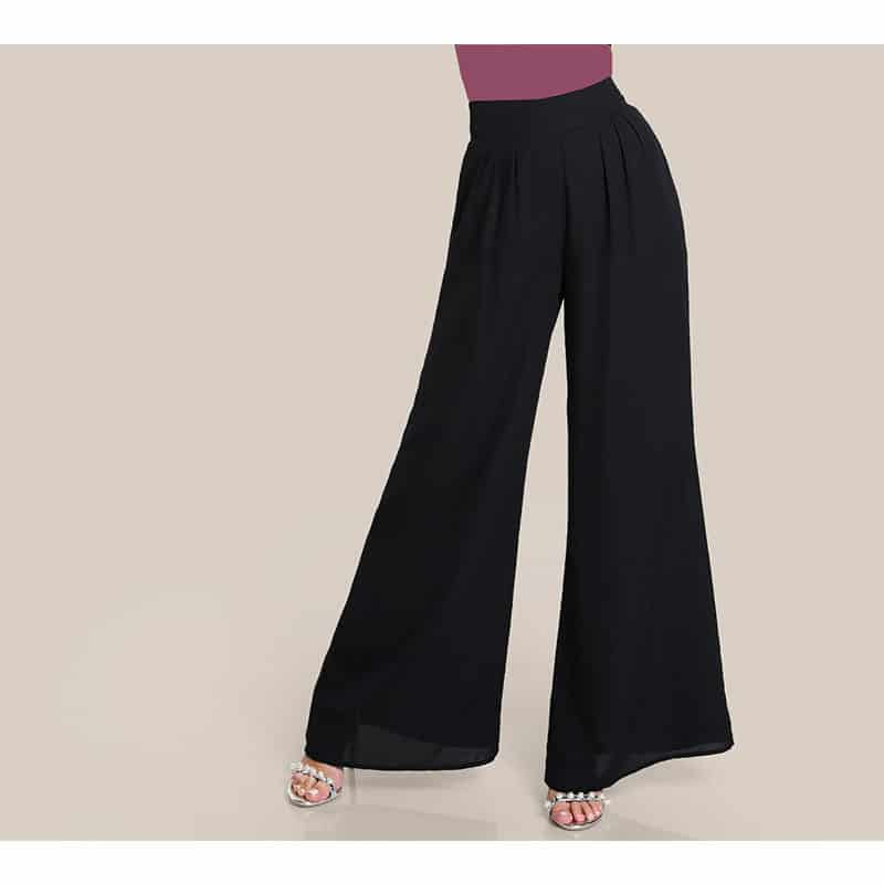 Pantalon noir islamique de face