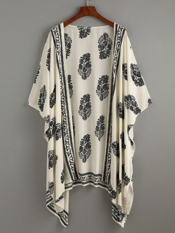 Kimono plumes pour femme musulmane