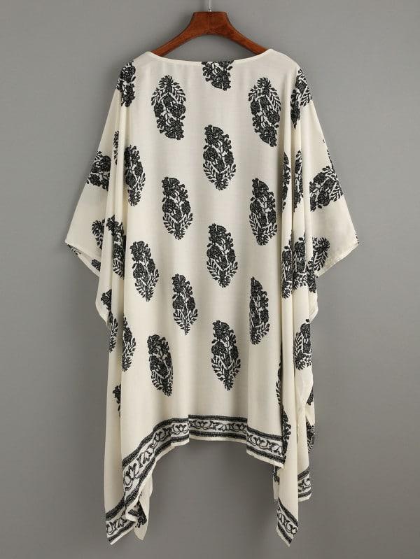 Kimono plumes pour femme voilée