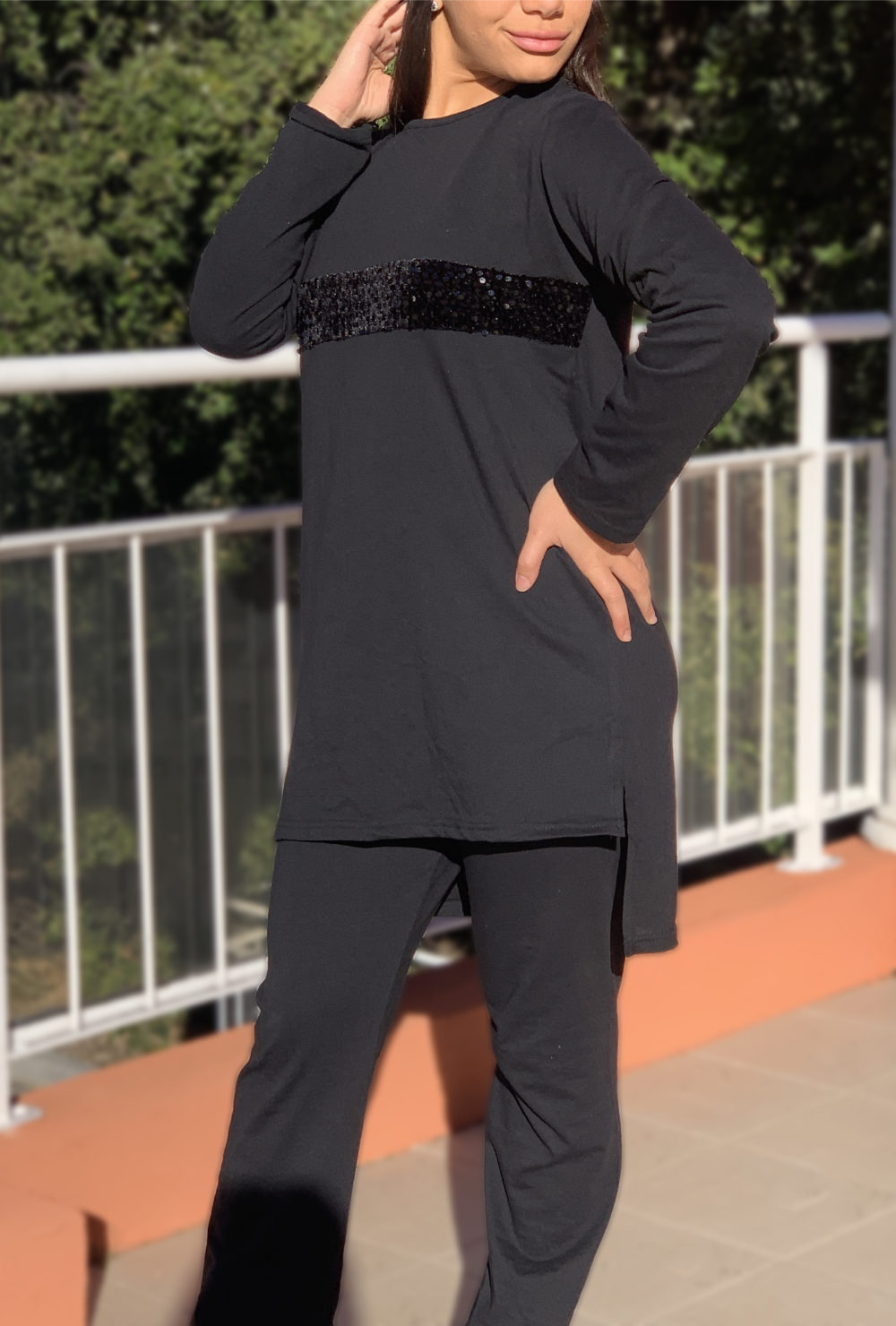 Ensemble sportwear noir